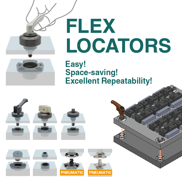 Quick locating and clamping - Flex Locators | IMAO